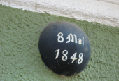 Prøjsisk kanonkugle fra bataljen maj 1848