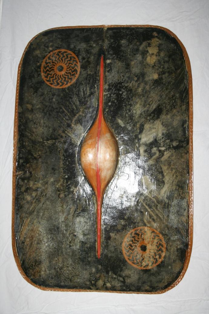 Rekonstruktion af skjold nr. 35 fra Hjortspringfundet