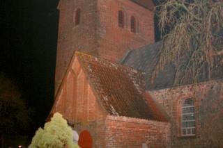 Lihme kirke by night