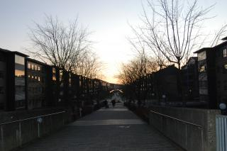 Gangbro mod Vejleåparken