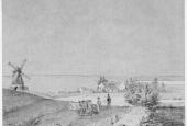 Tegning af Jonstrup fra 1800-tallet