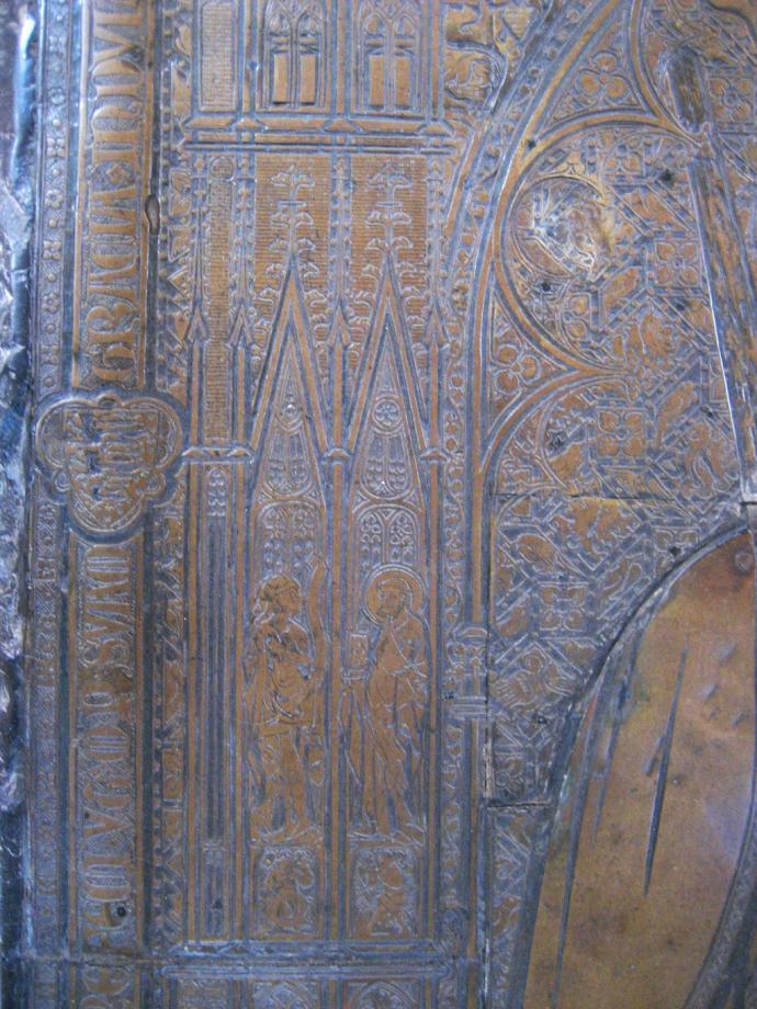 Skt. Bendts Kirke, detalje af Erik Menveds gravplade