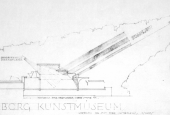 Aalto's Sketch of the museum