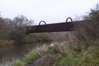 Langå-broen set nede fra