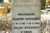 Martin Knudsen's gravsten på Hasmark kirkegård