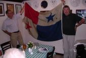 Panamaflaget fra Radio Mercurs sendeskib Cheeta II
