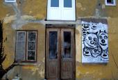 HAVEHUS: Murværk og gavl - under renoverig