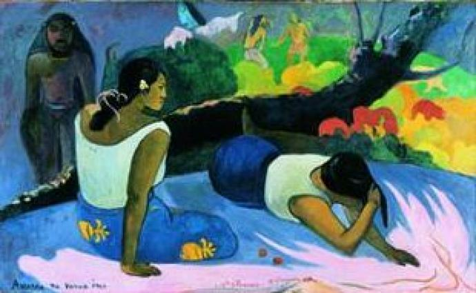 "Paul Gaugin: ""Laying Tahiti women"", 1894."