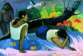 Paul Gauguin: &quot;Liggende Tahitikvinder&quot;.