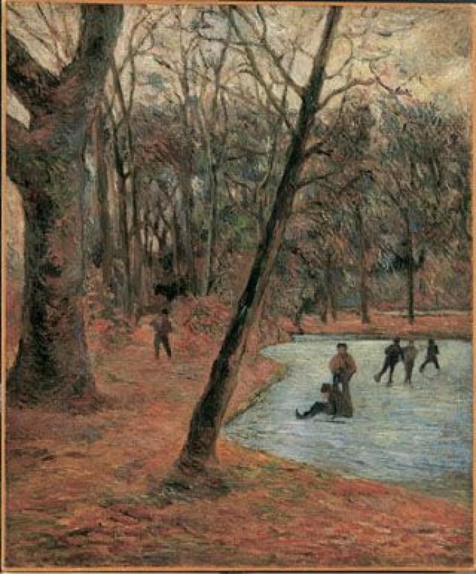 """Paul Gaugin: """"Skaters in Frederiksberg Have"""", 1884"""