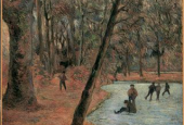 "Paul Gaugin: ""Skaters in Frederiksberg Have"", 1884"