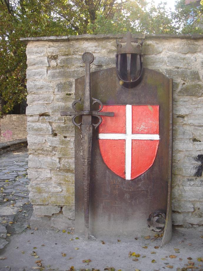 Mindeplade i Den Danske Konges Have, Tallinn