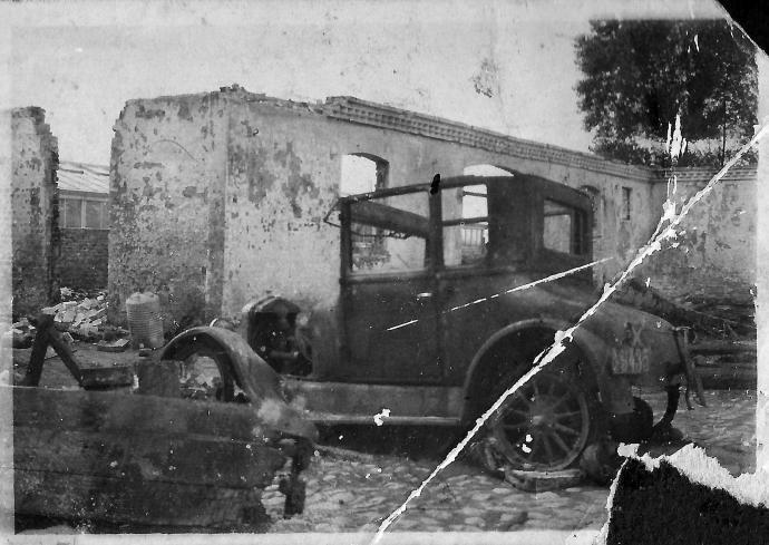 Branden på Tjørnagerggård 1920