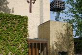 Kirken set fra Klostergården