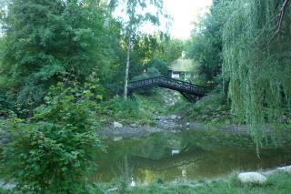 Norske Parti med den genskabte bro og sø