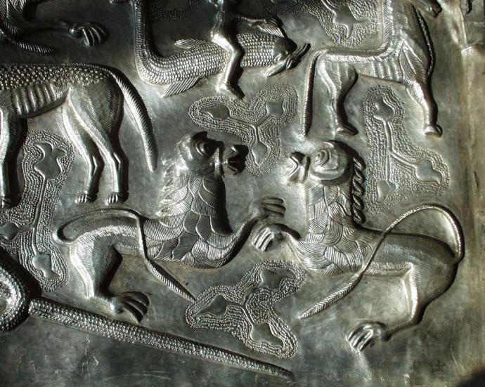 Lions on the Gundestrup Cauldron