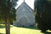 Skt. Ibs Kirke set fra Frederiksborgvej. Østvendt gavl.