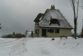 Knud Rasmussens hus med fyr