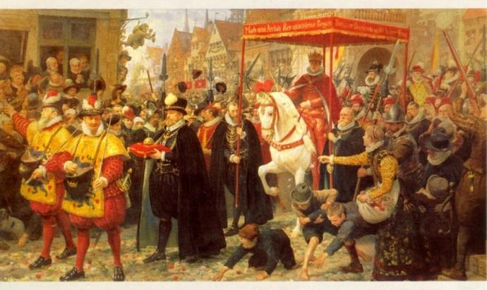 Partisaner ved royale begivenheder