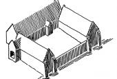 Tegning af Odense Adelige Jomfrukloster