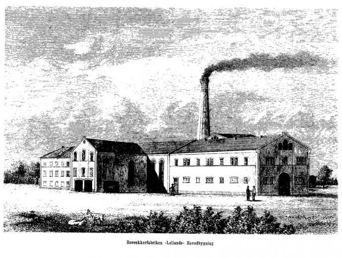 """Roesukkerfabriken """"Lolland"""" Hovedbygning"""