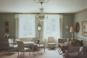 The livingroom at Rungstedlund, 1980