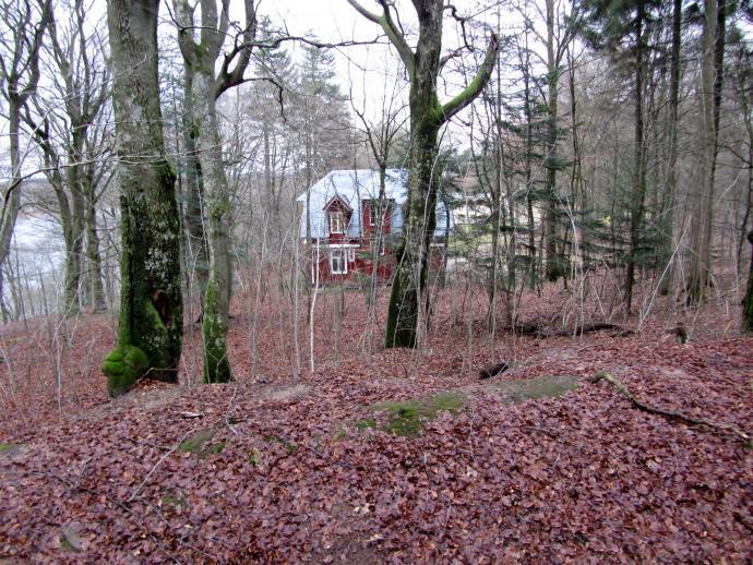 Lille rødt hus ved Silkeborgbad