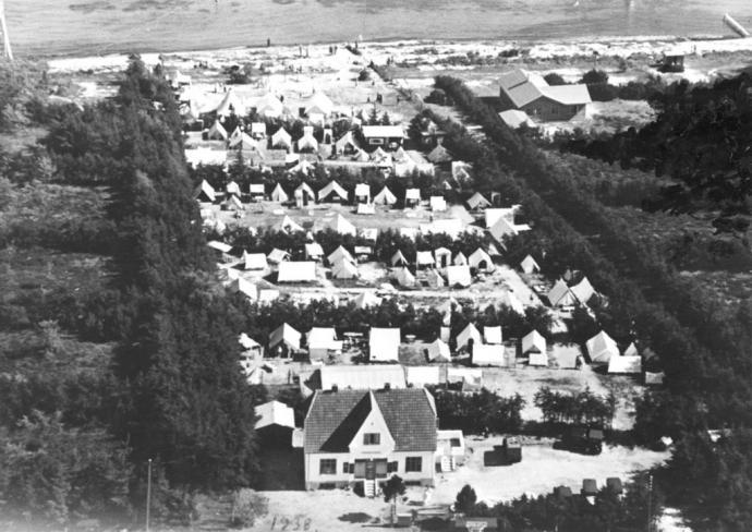 Luftfoto fra Strandhusene i Hundige