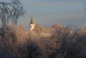 Kirken i sne