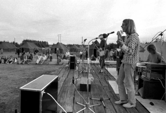 Koncert med Gnags i Thylejren