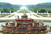 the Latona Fountain at Versailles